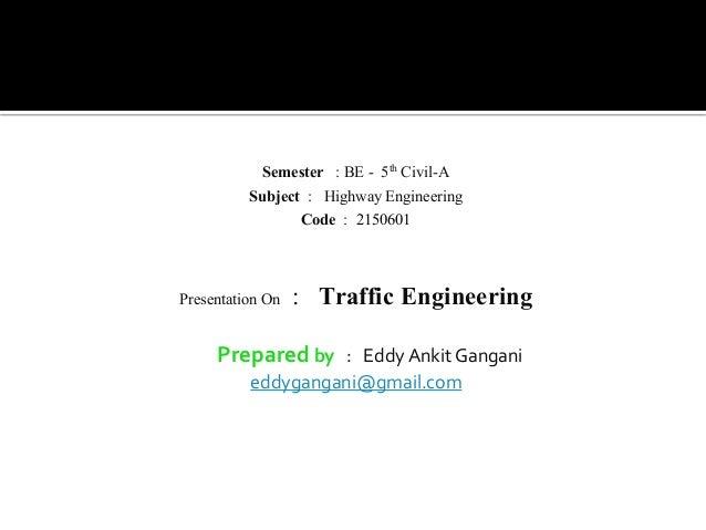 traffic engineering Slide 2