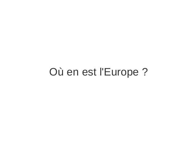 Où en est l'Europe ?