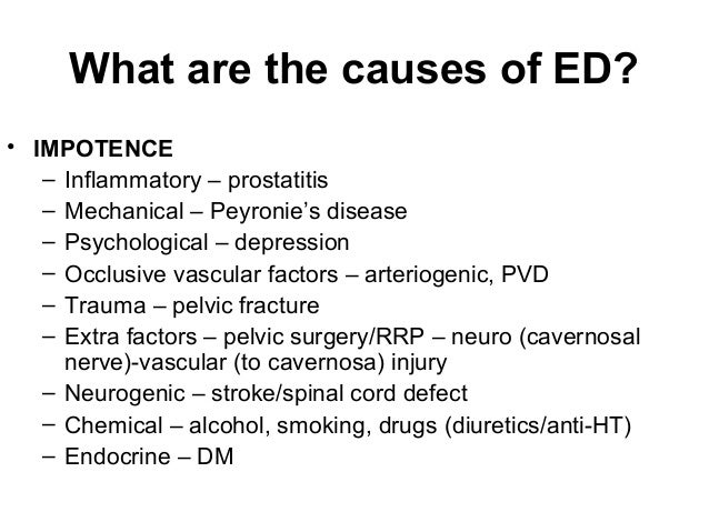 Drugs That Cause Sexual Dysfunction
