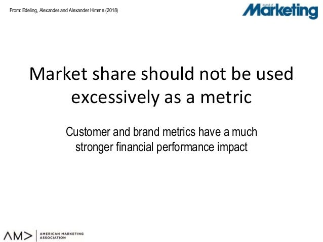 From: Market share should not be used excessively as a metric Customer and brand metrics have a much stronger financial pe...
