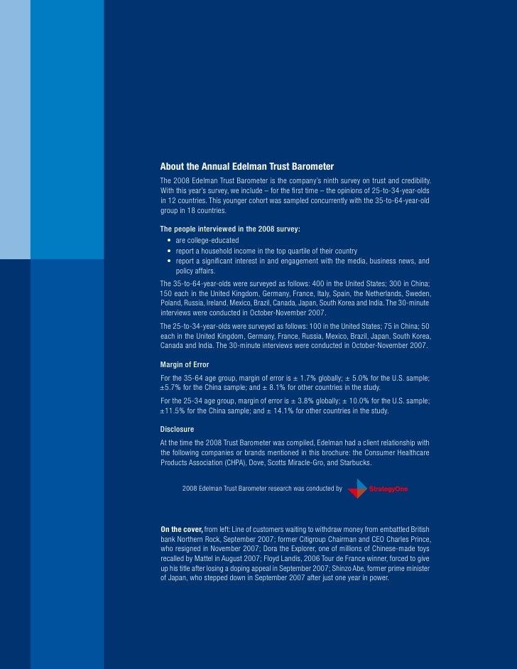 Edelman Trust Barometer 2008 Slide 2