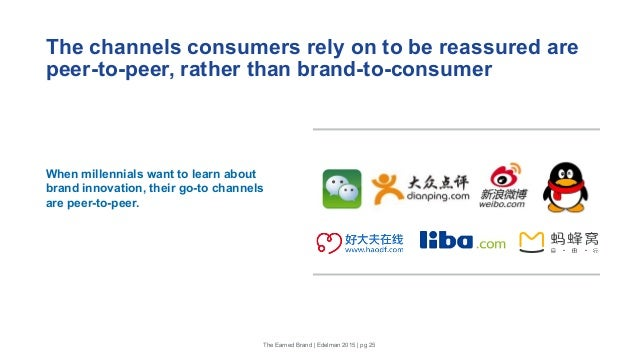 The channels consumers rely on to be reassured are peer-to-peer, rather than brand-to-consumer When millennials want to le...