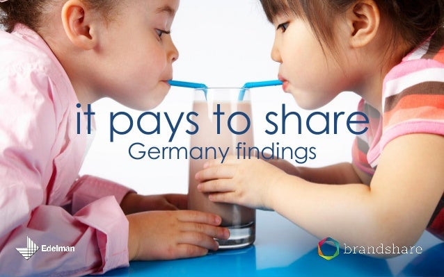 it pays to share Germany findings