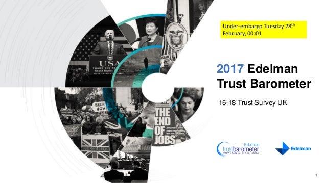 2017 Edelman Trust Barometer 16-18 Trust Survey UK 1 Under-embargo Tuesday 28th February, 00:01