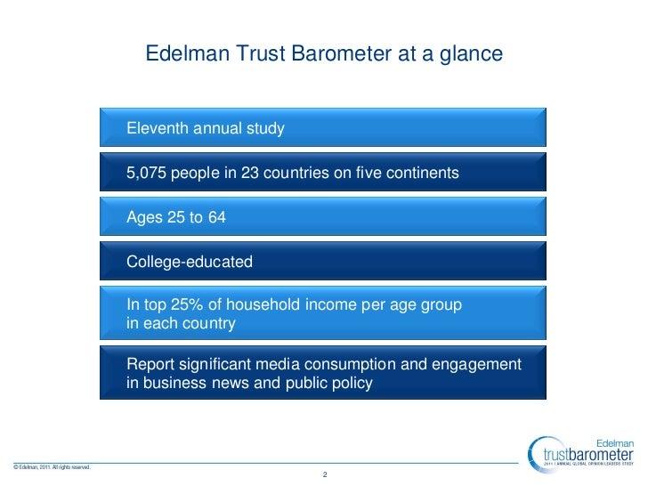 2011 Edelman Trust Barometer: Global & Country Insights Slide 2