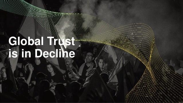 Global Trust is in Decline