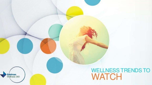 WELLNESS TRENDS TO WATCH