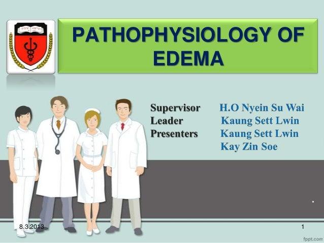 PATHOPHYSIOLOGY OF                 EDEMA                                .8.3.2013                    1