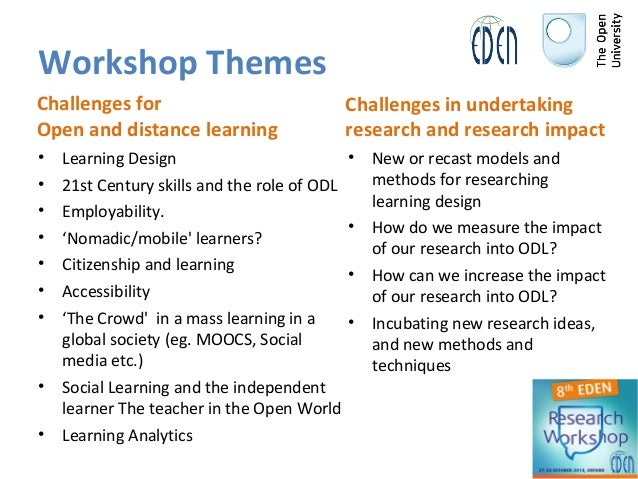 Join us to the EDENRW8 Research Workshop in Oxford Slide 3