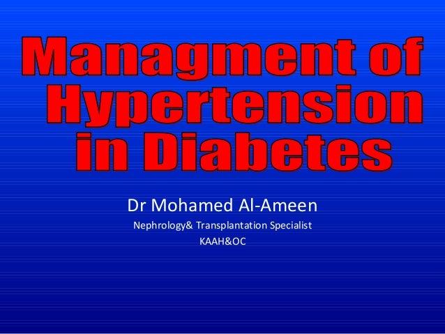 Dr Mohamed Al-Ameen Nephrology& Transplantation Specialist KAAH&OC