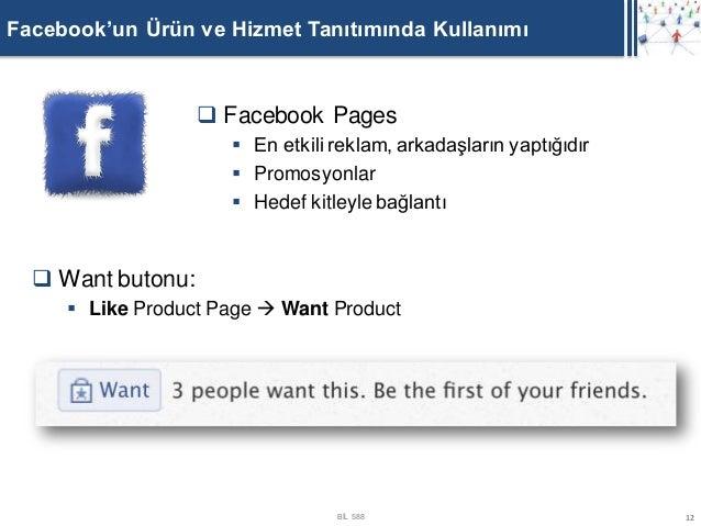 Facebook'un Ürün ve Hizmet Tanıtımında Kullanımı                    Facebook Pages                      En etkili reklam...