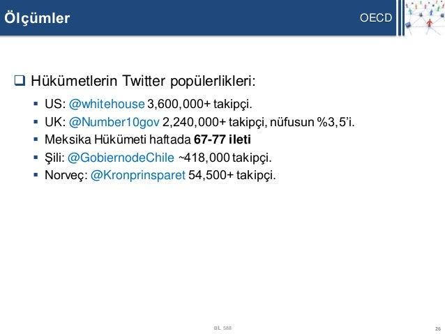 Ölçümler                                                       OECD  Hükümetlerin Twitter popülerlikleri:       US: @whi...