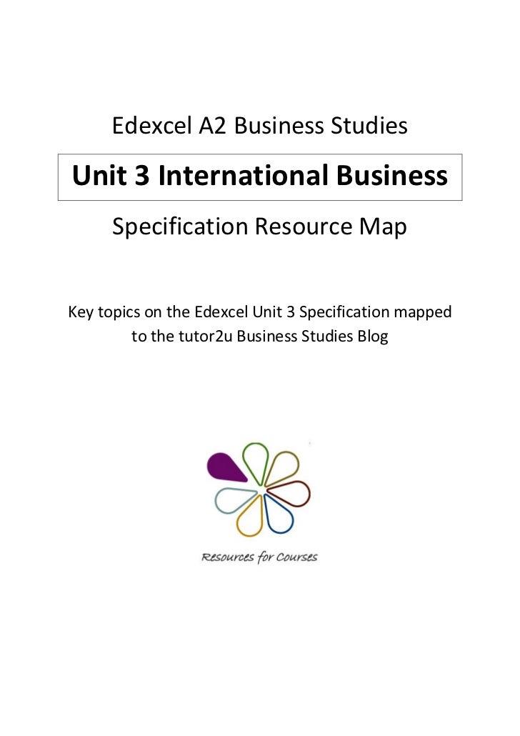 GCSE Business Studies Unit 1