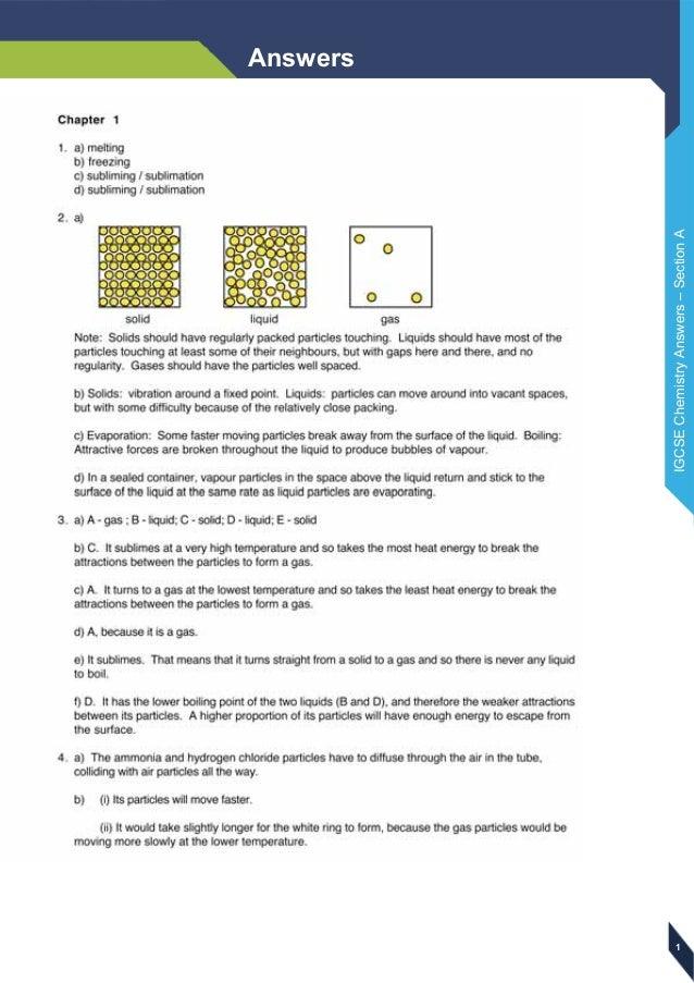 edexcel igcse chemistry answers rh slideshare net
