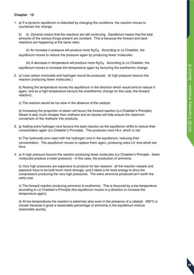 edexcel igcse chemistry answers rh slideshare net chemistry chapter 18 study guide answers Chem Study