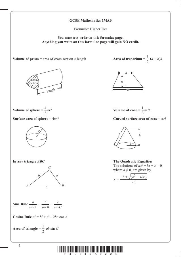 List of Synonyms and Antonyms of the Word: math formula sheet edexcel