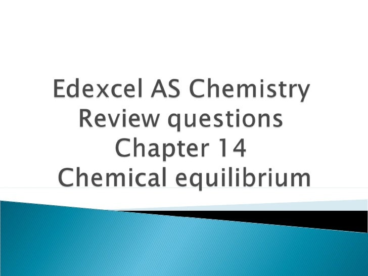 Edexcel AS Chemistry Chapter 14