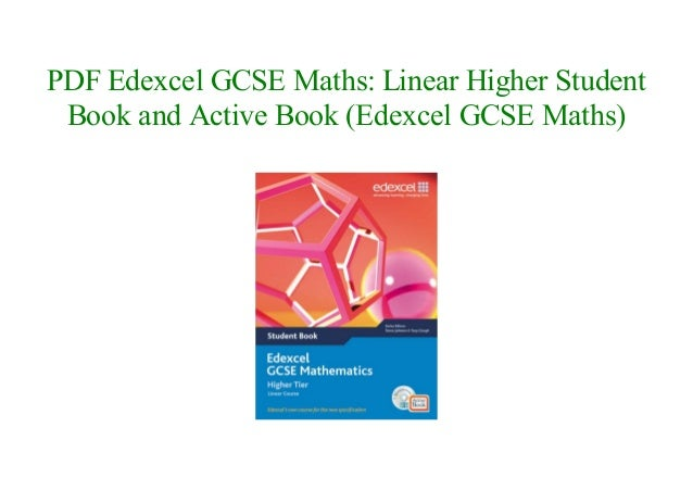 edexcel gcse maths higher student book pdf