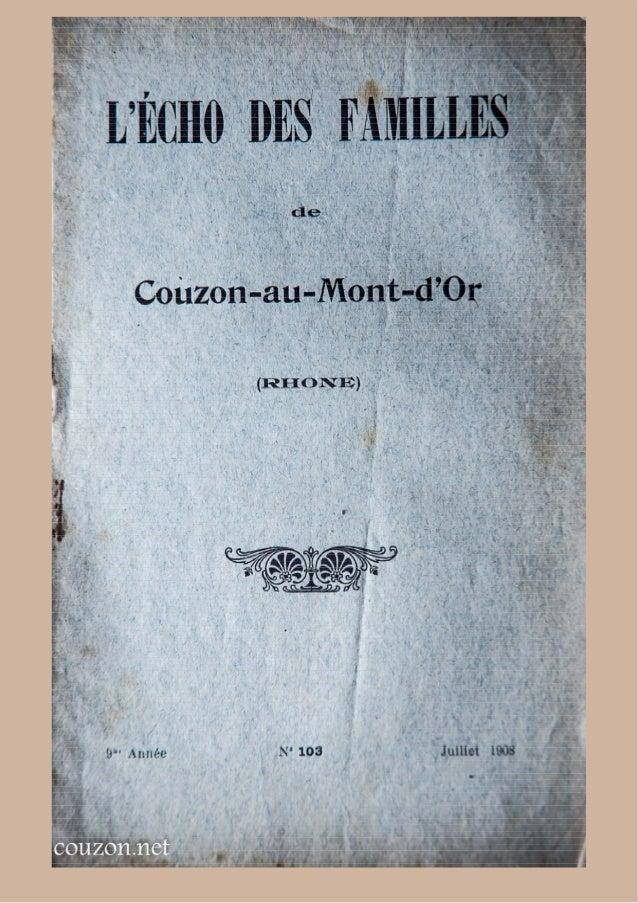 Echo des familles - N°103 - juillet1908 - Couzon-au-Mont-d'Or