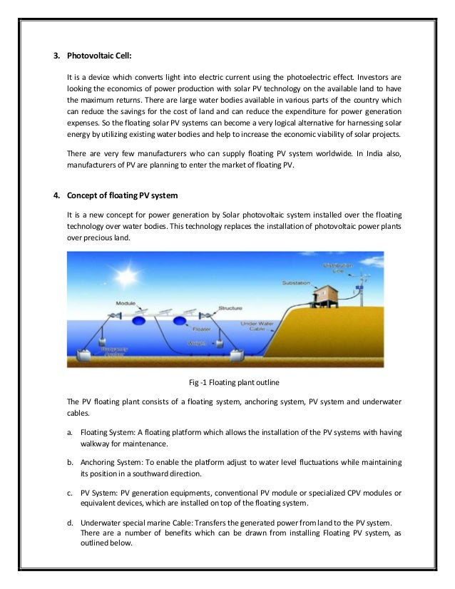 1  paper on floating solar photovoltaic system an emerging