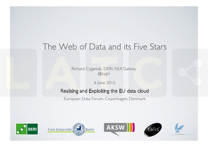 The Web of Data and its Five Stars	          Richard Cyganiak, DERI, NUI Galway                        @cygri	            ...