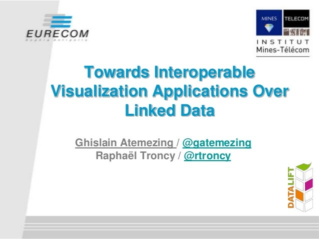Ghislain Atemezing / @gatemezingRaphaël Troncy / @rtroncyTowards InteroperableVisualization Applications OverLinked Data