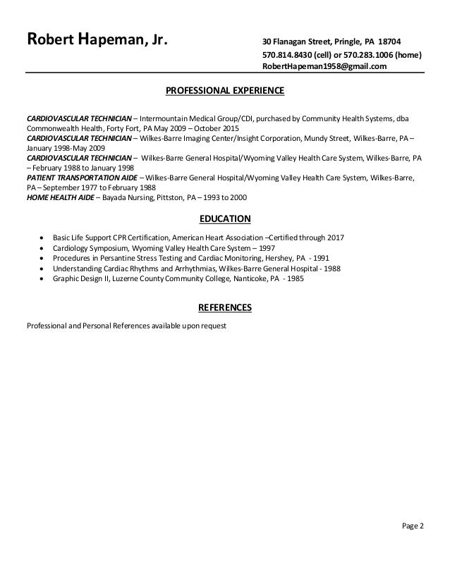 bayada page 1 2 cardiologist resume