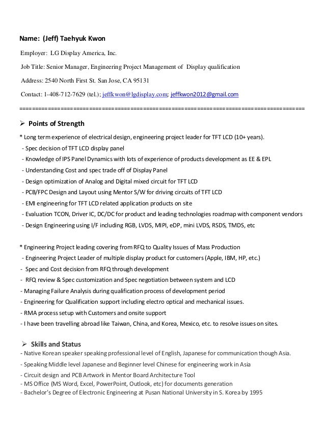 jeff th kwon resume april2016 display engineer
