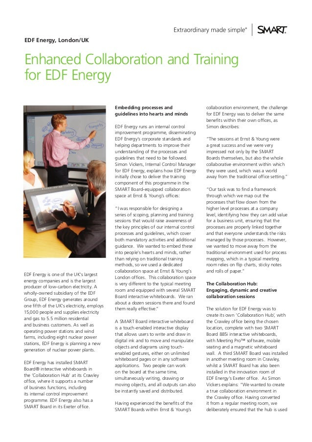 EDF Energy, London/UKEnhanced Collaboration and Trainingfor EDF Energy                                             Embeddi...