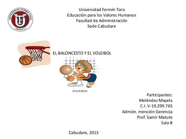 Universidad Fermín Toro      Educación para los Valores Humanos          Facultad de Administración                Sede Ca...