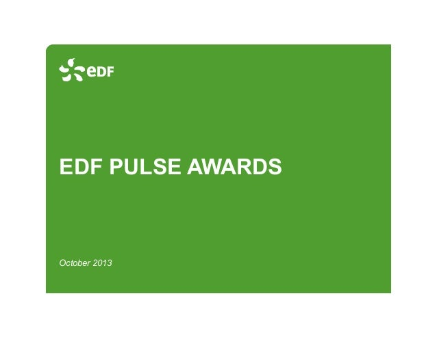 EDF PULSE AWARDS  October 2013