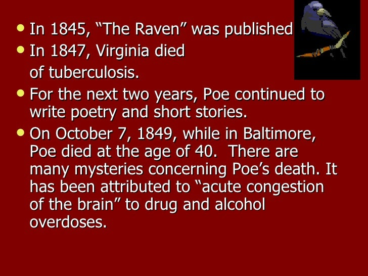 a comparison of the raven and the fall of the house of usher two works by edgar allan poe The works of edgar allan poe, volume 1 of the raven edition edgar allan poe  of witchery and mystery as 'the fall of the house of usher' and 'ligea.