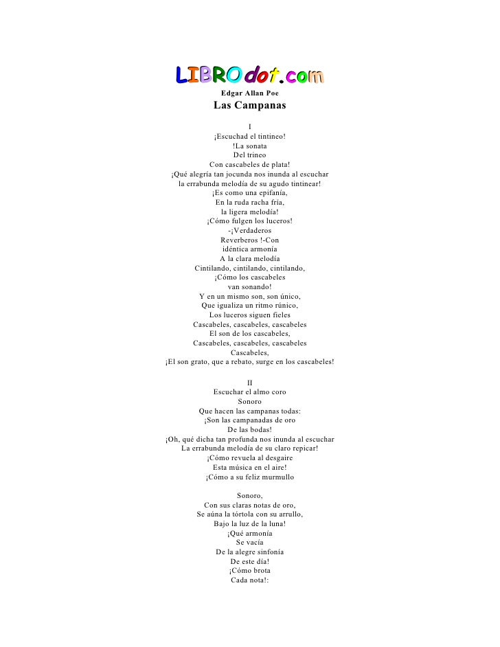 LIBROdot.com                  Edgar Allan Poe                Las Campanas                             I                 ¡E...