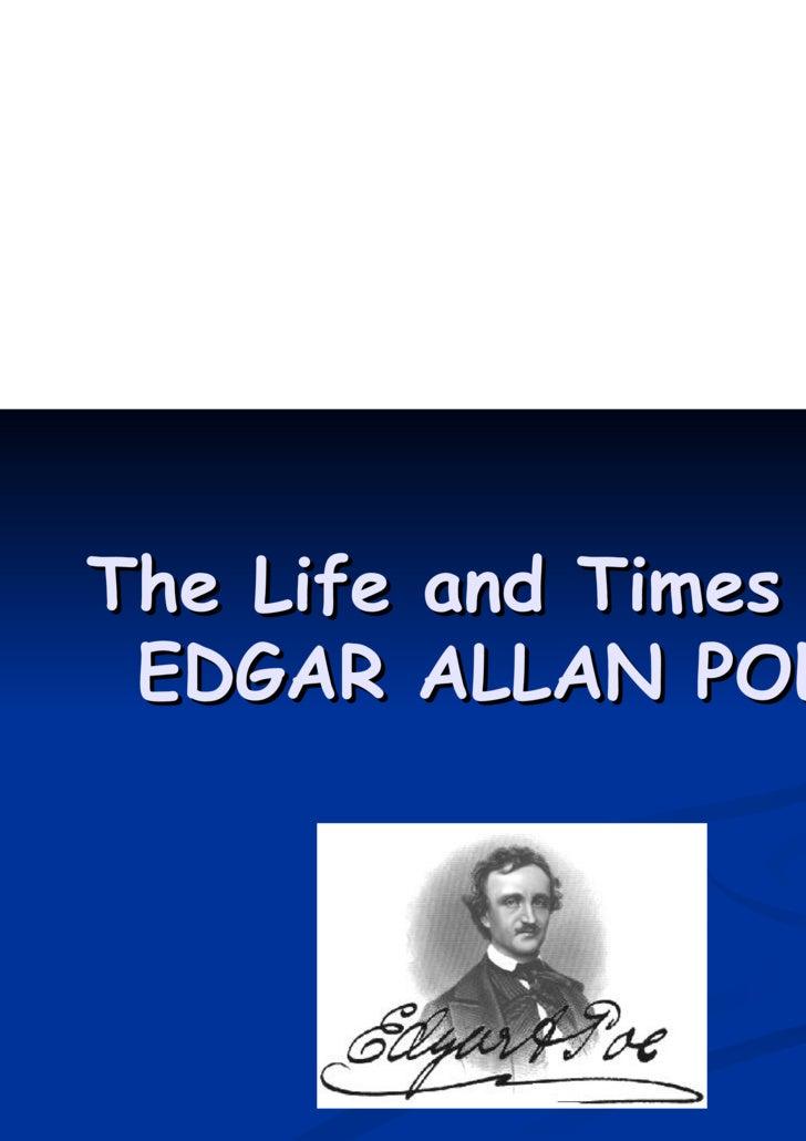 "edgar allan poe life outline Essay outline/plan service  edgar allan poe's life impact on ""the tell-tale heart"" and ""the raven""1  edgar allan poe's the tell tale heart:."