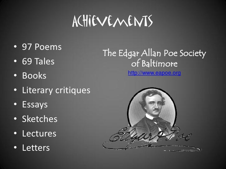 how to write an essay introduction for edgar allan poe essays if you cannot any suitable paper on our site which happens very rarely you can always order custom written paper which will be written from scratch