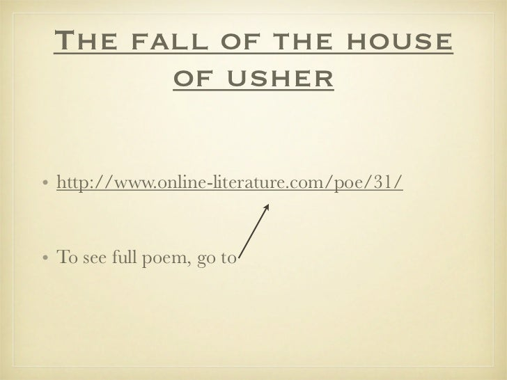 the theme of fear in the fall of the house of usher by edgar allan poe Download dark tales - edgar allan poe's the fall of the house of usher platinum edition today, or play this and 2400+ other top games online for free at gamehouse.