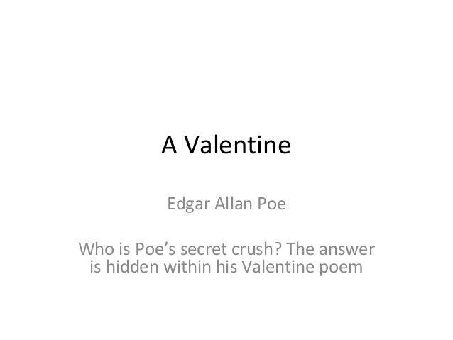 Schön A Valentine Edgar Allan Poe ...