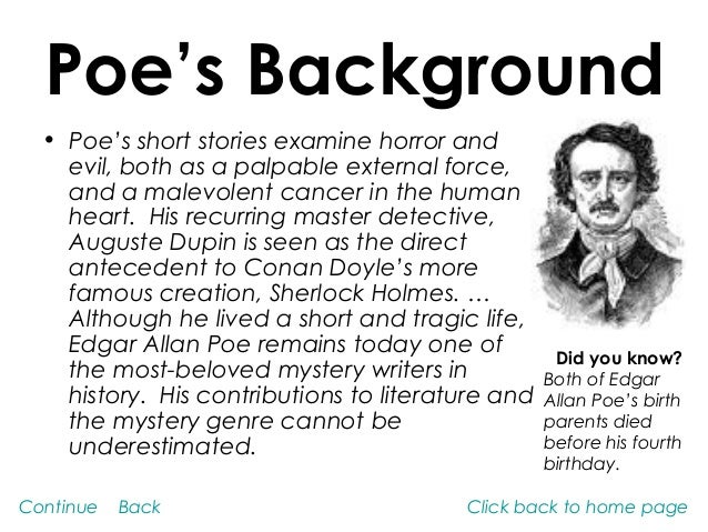 Edgar Allan Poe and his influence on American Literature