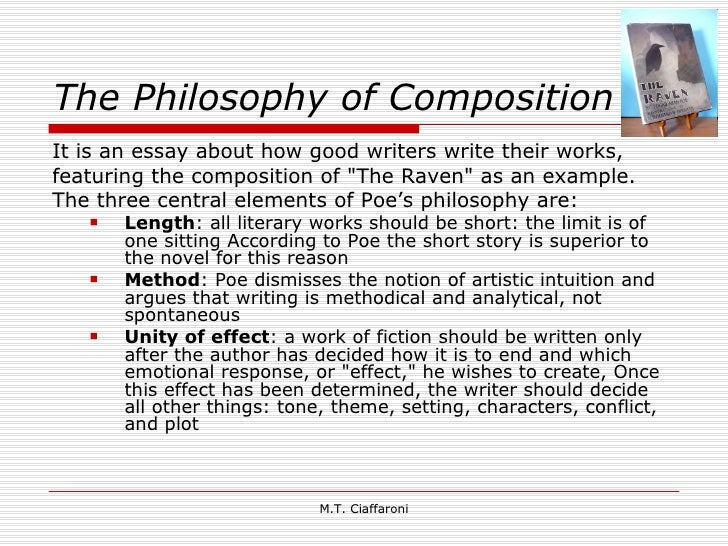 Edgar allan poe the philosophy of composition essay examples