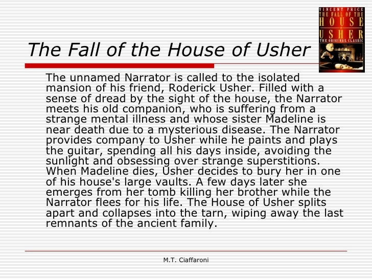 the fall of the house of usher essay analysis Below is an essay on the fall of the house of usher from anti essays, your source for research papers, essays, and term paper examples  literary analysis of the.