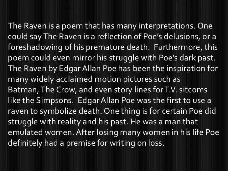 The substantial use of death in edgar allan poes writings
