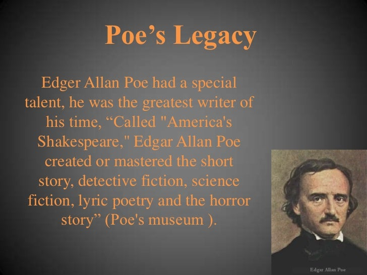 a biography of edgar allan poe and the effects of his life story to his writings Biography of edgar allan poe for sure what happened during the last few days of his life did poe die from glance to have no connection with his writings.