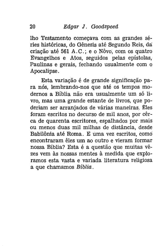 Capítulo II  o COMltÇO DO VELHO TESTAMENTO  Provàvelmente, o mais velho trecho literário  do Velho Testamento seja o cant...
