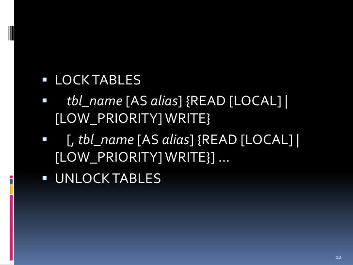 mysql low priority write a check