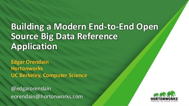 1 © Hortonworks Inc. 2011 – 2017 All Rights Reserved Building a Modern End-to-End Open Source Big Data Reference Applicati...