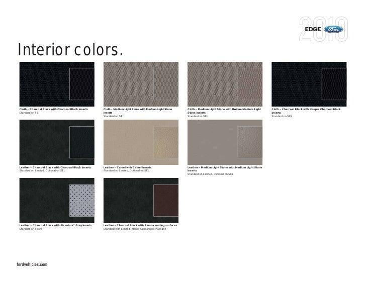 Edge Interior Colors