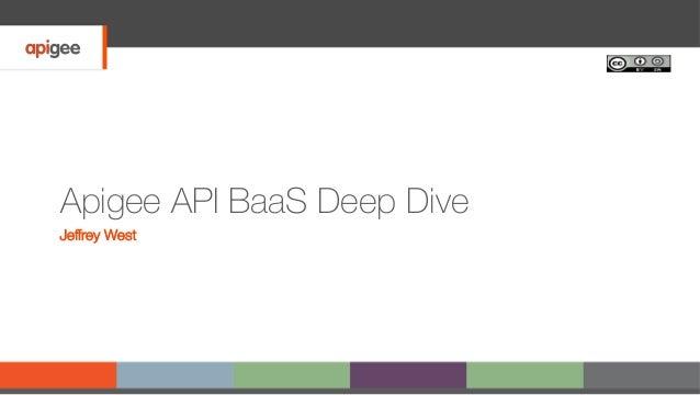 Apigee API BaaS Deep Dive Jeffrey West