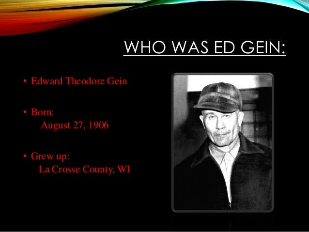 ed gein and his relationship with mother