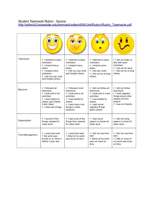 Information Literacy Plan – Teamwork Worksheets
