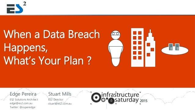 Slide 1 of 11ENTERPRISE SECURITY ENTERPRISE SHAREPOINTSlide 1 When a Data Breach Happens, What's Your Plan ? Edge Pereira ...